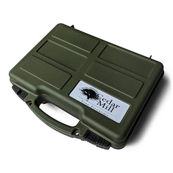 Cedar Mill Fine Firearms Pistol Case 4 Cedar Mill Fine Firearms -Worlds Smallest Micro Pistol Cleaning Kit for Handguns | Free Super-X Tool Bundle with Hard Gun Case Pistol Case (Green) |TSA Approved with Pick and Pluck Foam (2 Items)