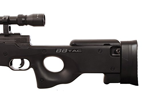 BBTac  7 BBTac b96 awp airsoft sniper rifle with 3-9x40 scope and bi-pod warrior 1(Airsoft Gun)