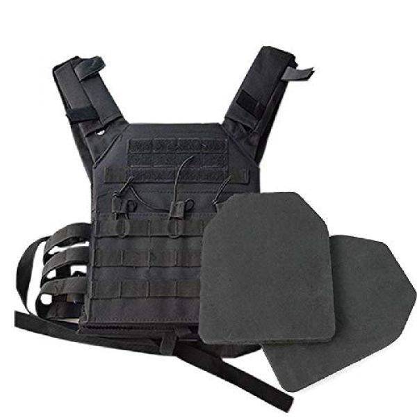 BGJ Airsoft Tactical Vest 7 2 pcs Foam Training Hunting Body Armor Plates Dummy Tactical Vest Bulletproof Panel for JPC Military Airsoft Vest Equipment