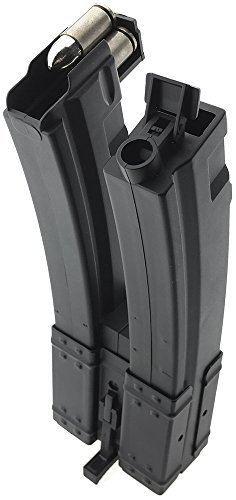 SportPro  3 SportPro 560 Round Polymer Double High Capacity Magazine for AEG MP5 Airsoft - Black
