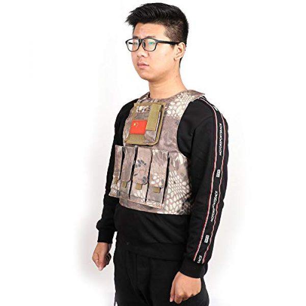 "Nuxn Airsoft Tactical Vest 7 Nuxn Kids Tactical Vest Black Lightweight Children Field Combat Training Protective Vest Adjustable Shooting Hunting Molle Clothes'""Children Camo Vest Jacket Waistcoat Camouflage Vest"