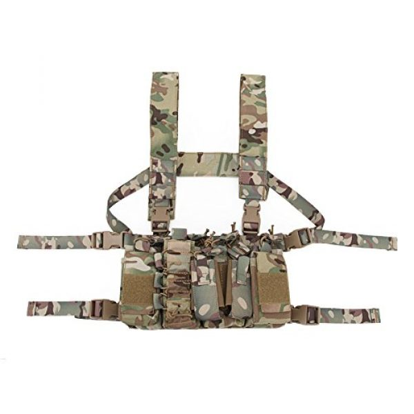 OAREA Airsoft Tactical Vest 1 OAREA Tactical Sling Vest Chest Rig Combat Recon Gear Vest with Magazine Pouch for Airsoft Hunting Games