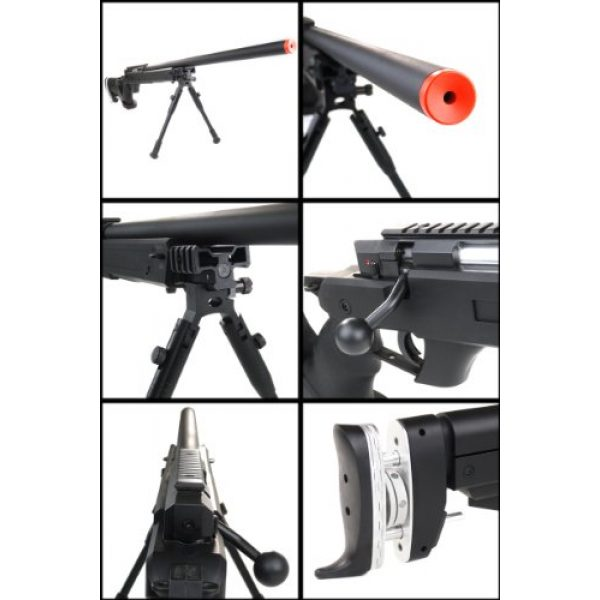 Well Airsoft Rifle 3 Well sr pro bolt action sniper rifle w/ bipod black(Airsoft Gun)