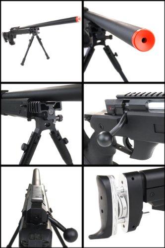 Well  3 Well sr pro bolt action sniper rifle w/ bipod black(Airsoft Gun)