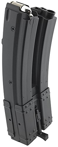SportPro  2 SportPro 560 Round Polymer Double High Capacity Magazine for AEG MP5 Airsoft - Black