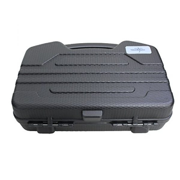 SAS Pistol Case 3 SAS Pistol Lockable Heavy Duty Hard Case Pluck Foam with Locking Holes for Archery Accessories or Handgun