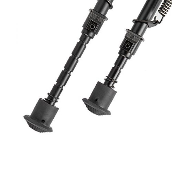Gazelle Trading Airsoft Gun Barrel Bipod 7 Gazelle Trading Adjustable 6-9״ Rifle Bipod Sling Mount Spring Sniper Tactical with Adapter Monopods