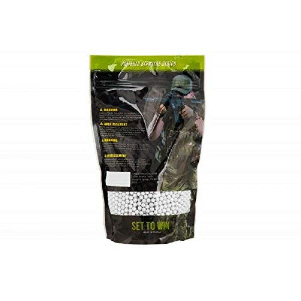Lancer Tactical Airsoft BB 2 Lancer Tactical Eco-Ammo 0.43g BBS White 2375 Round High FPS Performance Biodegradable