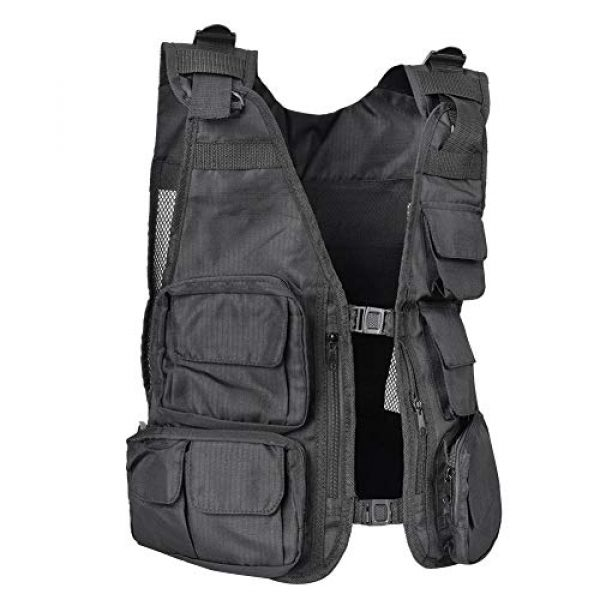 Alomejor Airsoft Tactical Vest 3 Alomejor Outdoor Sport Vest with Multi-Pocket Adjustable Breathable Vest Multifunctional Quick Dry Waistcoat for for Hiking Fishing Camping Hunting Shooting