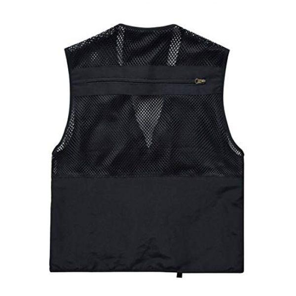 DAFREW Airsoft Tactical Vest 2 DAFREW Men's Vest Fashion Casual Vest Outdoor Photography Fishing Vest Quick Dry Vest (Color : Black, Size : M)