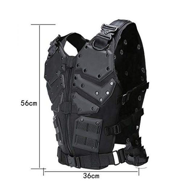 WEQ Airsoft Tactical Vest 4 WEQ Airsoft Tactical Vest Special Forces Chest Protector Vest Paintball Vest Outdoor Modular Combat Training Adjustable (Color : #B)