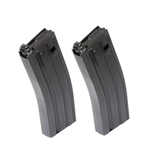Generica  1 Generica Airsoft Spare Parts G&D 2pcs 120rd Mag Magazine for Systema DTW M4 M16 AEG Black