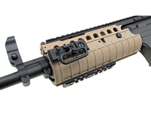 Jing Gong (JG)  4 JG airsoft m4 s-system full metal gearbox desert tan aeg rifle w/ integrated ris and high performance tight bore barrel - newest enhanced model(Airsoft Gun)
