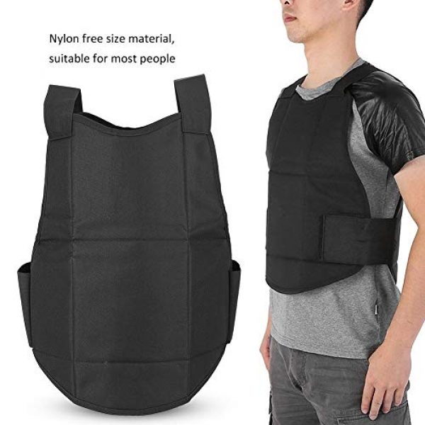 Tbest Airsoft Tactical Vest 6 Tactics Protection Vest, Nylon Black Lightweight Outdoor Shooting Body Tactics Protection Vest for Travelling Jungles Shrubs Archery Sports