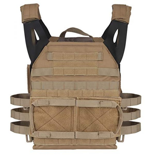 DETECH Airsoft Tactical Vest 7 DETECH Tactical JPC MOLLE Vest with Backpack Expand Bag for Airsoft Paintball Hunting