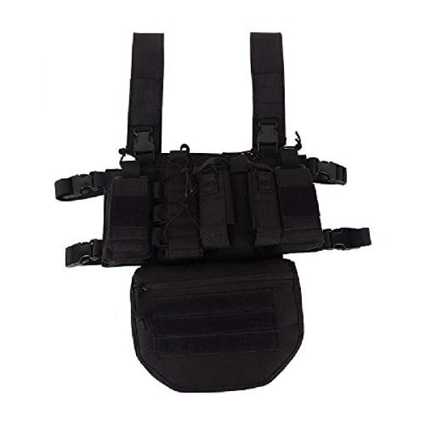 BGJ Airsoft Tactical Vest 5 Outdoor Tactical Vest Military Airsoft Shooting Combat Chest Rig Army Battle Nylon Molle Vest Bag Hunting CS Match Waist Pack