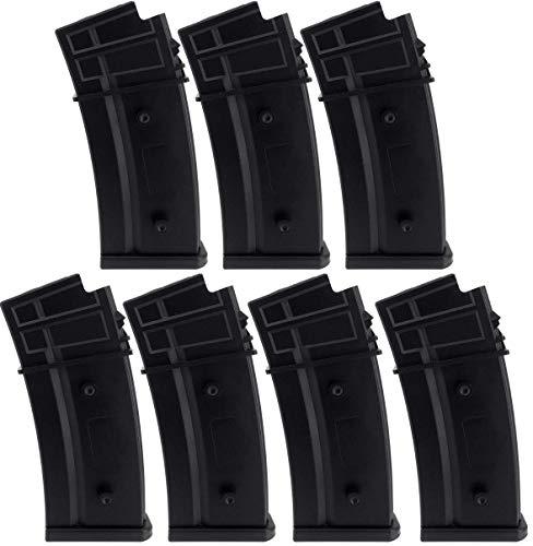 SportPro  1 SportPro Jing Gong 470 Round Polymer High Capacity Magazine for AEG G36 7 Pack Airsoft - Black