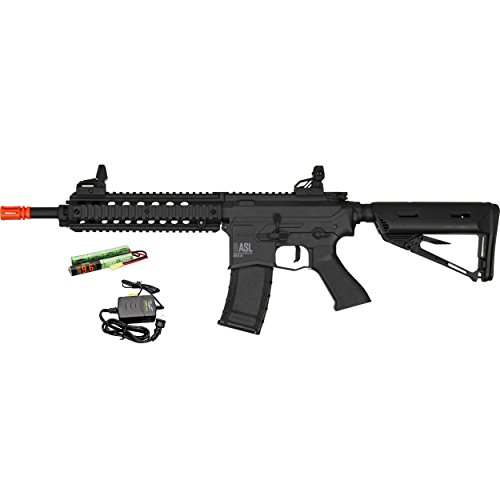 Valken Airsoft Rifle 1 Valken ASL MOD-M AEG M4 Airsoft Rifle - Black w/Battery & Charger