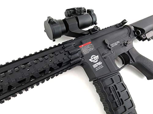 G&G  5 G&G CM16 R8-L Combat Machine M4 AEG Airsoft Gun (Black) w/Red Dot Sight (Combo)