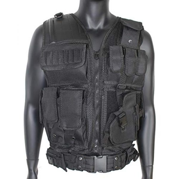 Yoghourds Airsoft Tactical Vest 3 Yoghourds Adjustable Breathable Vest, Ultra-Light Tactical Vest for Men for Hunting/Fishing/CS Field Operations/Cosplay