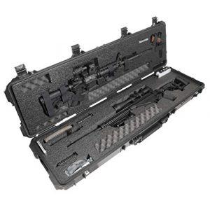 Case Club Rifle Case 1 Case Club Precision and AR Rifle Pre-Cut Waterproof Case with Accessory Box and Silica Gel to Help Prevent Gun Rust (Gen 2)