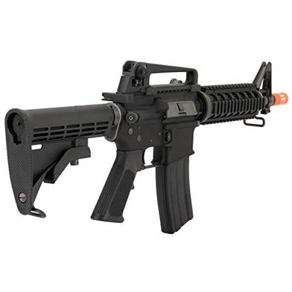 Lancer Tactical Airsoft Rifle 5 Lancer Tactical WE Full Metal M4 CQB RIS Open Bolt Gas Blowback Airsoft Rifle Black 420 FPS