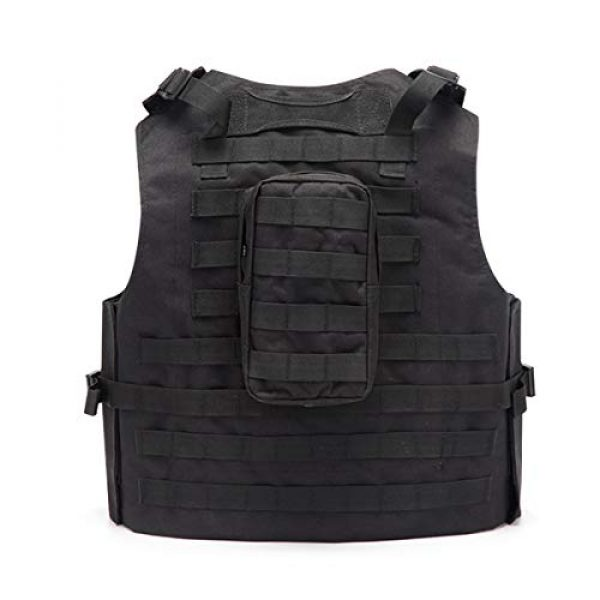 KIDYBELL Airsoft Tactical Vest 2 KIDYBELL Black Adjustable Airsoft Vest Lightweight Oxford Cloth Tactical Training Vest is Suitable for Outdoor Hunting Army Fan Combat Training Airsoft and Other Outdoor Sports