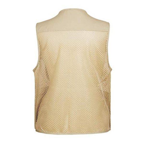 DAFREW Airsoft Tactical Vest 2 DAFREW Men's Vest Outdoor Leisure Fishing Vest Multi-Pocket Vest Breathable mesh Vest (Color : Beige, Size : XL)