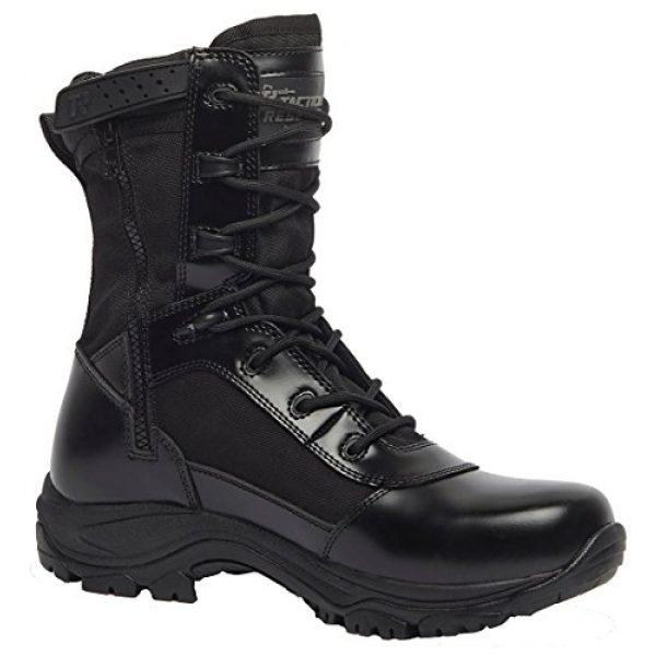 "Belleville Tactical Research TR Combat Boot 2 Belleville Tactical Research TR Men's Class-A TR908Z WP 8"" Waterproof High Shine Side-Zip Boot"
