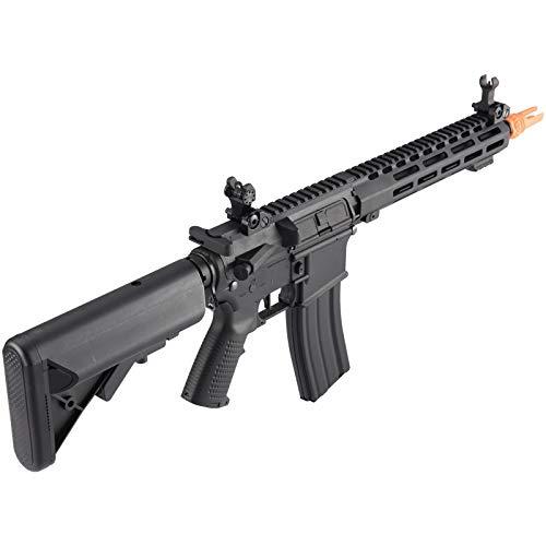 Lancer Tactical  7 Lancer Tactical Classic Army Skirmish Series ML10 M4 M-LOK AEG Airsoft Rifle Black 350 FPS