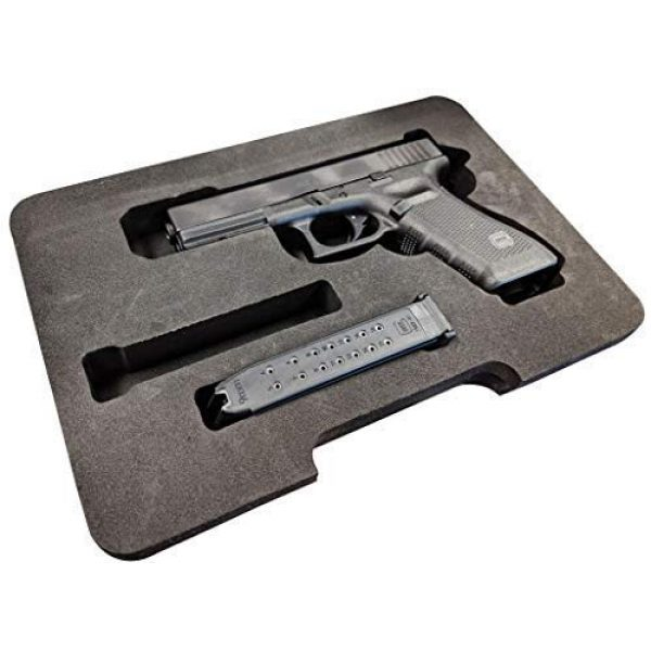 Cedar Mill Fine Firearms Pistol Case 3 Glock Compatible Go-Pack | Custom case with EVA display foam to protect your G17 9mm Gen1,2,3,4,5 G22 .40 Gen1,2,3,4,5 G19 19 9mm Gen1,2,3,4,5 G23 .40 Gen1,2,3,4,5 G26 9mm Gen1,2,3,4,5 G27 .40 Gen1,2