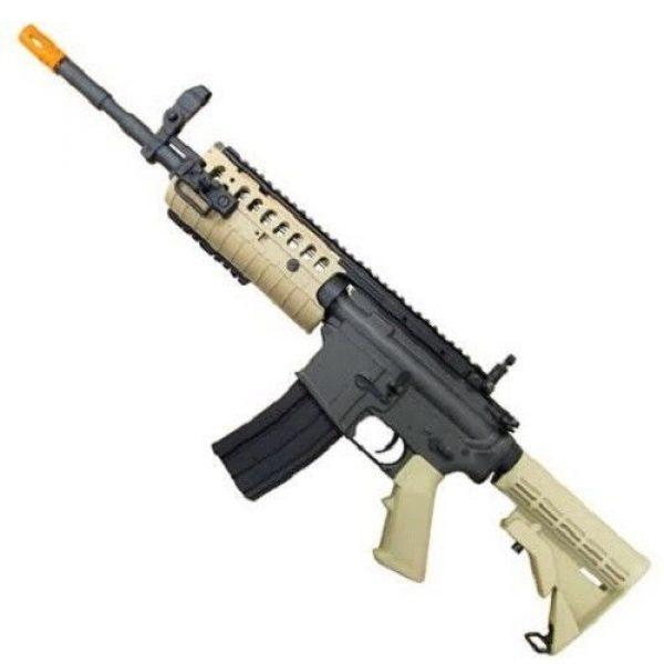 Jing Gong (JG) Airsoft Rifle 2 jing gong w4 metal gb aeg airsoft gun, extra mag, google's, 4350 bb's combo -tan(Airsoft Gun)