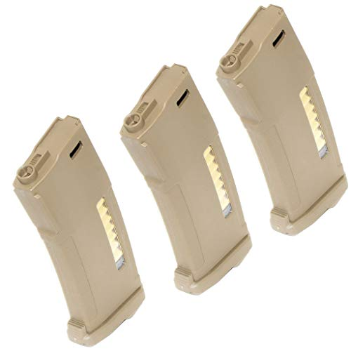 Generica  1 Airsoft Spare Parts 3pcs Pack PTS EPM 150rd Enhanced Polymer Magazine for M4 M16 Series AEG Dark Earth