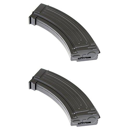 Airsoft Shopping Mall  1 Airsoft Shooting Gear 2pcs Pack CYMA 600rd Hi-Cap Magazine for AK-Series AEG Black