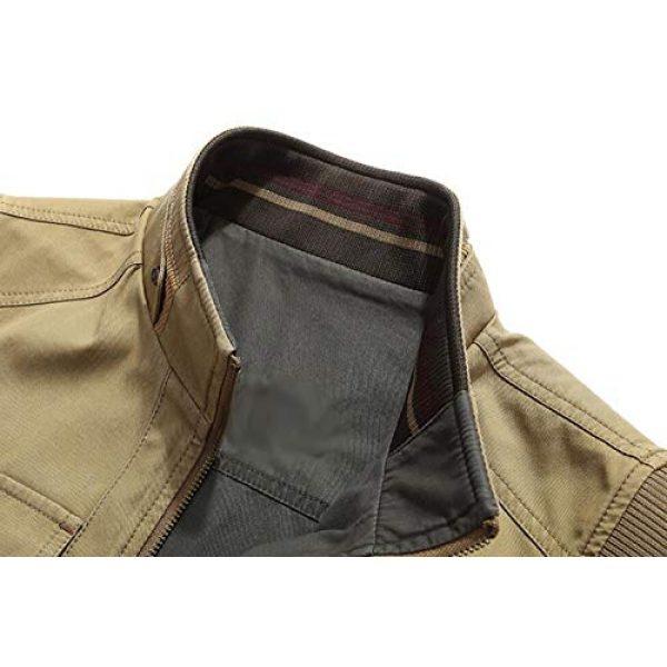 DAFREW Airsoft Tactical Vest 5 DAFREW Men's Reversible Cotton Casual Gilet Vest Outdoor Multi Pockets Full Zip Vests (Color : Black, Size : L)
