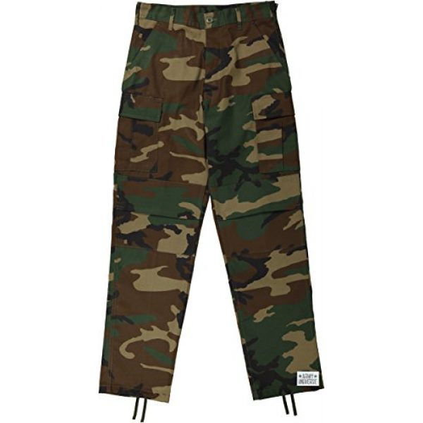 Army Universe Tactical Pant 1 Mens Woodland Camouflage Poly/Cotton Military BDU Army Fatigues Cargo Pants with Pin