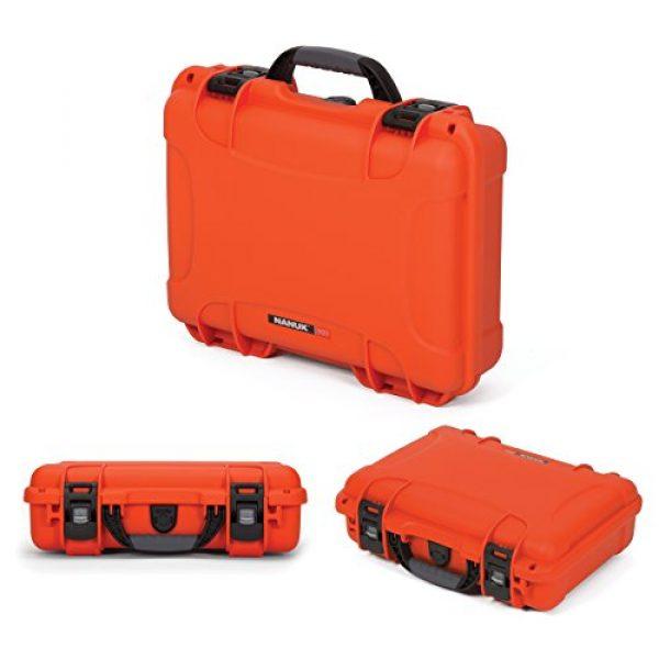Nanuk Pistol Case 3 Nanuk 910 2UP Waterproof Hard Case w/Custom Foam Insert for Glock Pistols - Orange