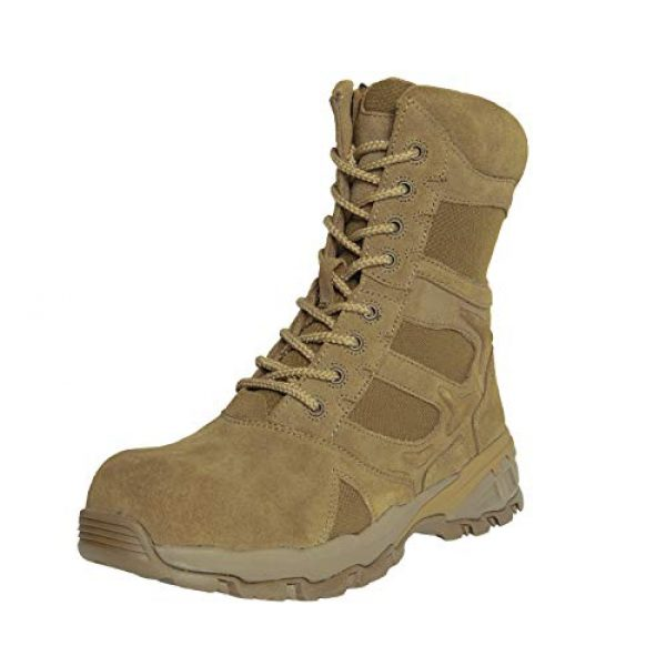 """Rothco Combat Boot 2 8"""" Forced Entry Composite Toe AR 670-1 Coyote Brown Tactical Boot"""