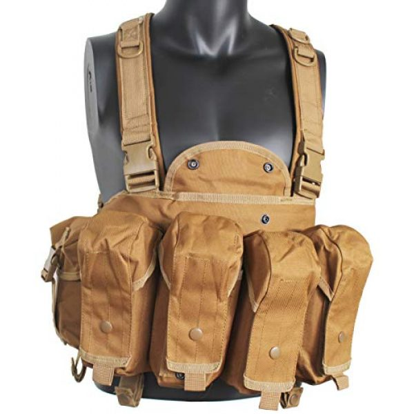 Yoghourds Airsoft Tactical Vest 3 Yoghourds Tactical Vest for MenBreathable Airsoft VestAdjustable Lightweight Outdoor Paintball Vest for Travelers, Hiking, River Guide Adventures and Hunting