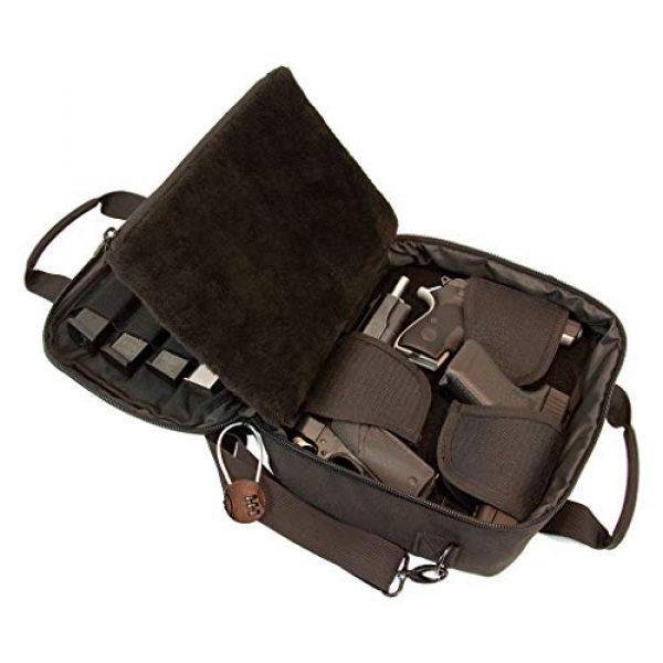 First Choice Gear Pistol Case 1 Pistol Case Range Bag for Handguns by FirstChoice - 2 to 4 Gun Padded Tactical Handgun Shooting Soft Case, Lockable Zippers w/Padlock, 3 Mini-Holsters, 8 Mag Slots, 4 Pockets, w/Range Mat