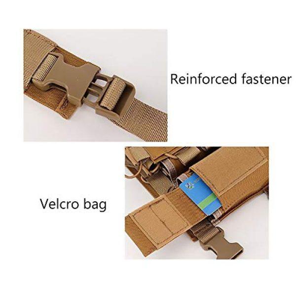 WEQ Airsoft Tactical Vest 7 WEQ Outdoor Tactical Vest Ultra-Light Breathable Modular Combat Training Vest Outdoor Combat Chest Vest Hanging Adjustable (Color : #D)