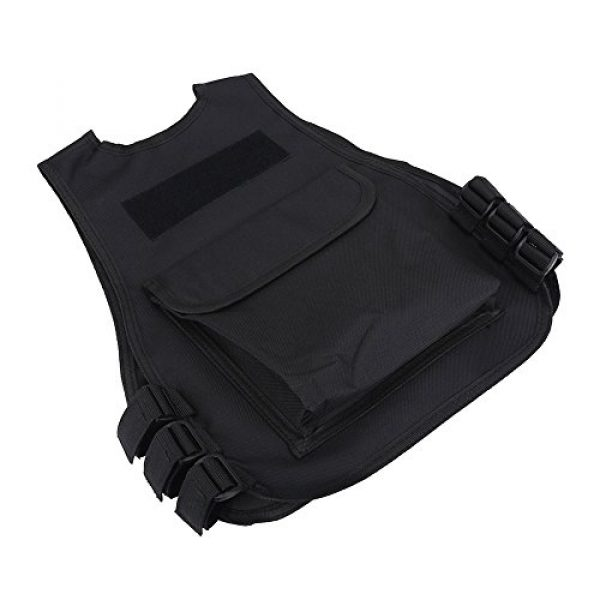 Wbestexercises Airsoft Tactical Vest 4 Wbestexercises Kids Tactical Molle Vest Adjustable Combat Vest Jacket Breathable Children Protective Waistcoat for Outdoor Hunting Combat Games S, L