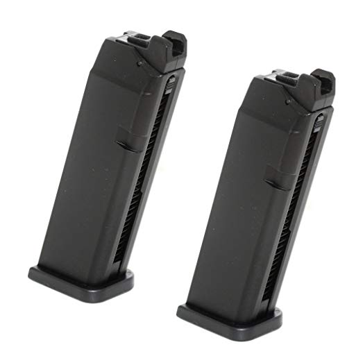 Generica  1 Generica Airsoft Spare Parts APS 2pcs 23rd Top Gas Turbo Magazine for Marui/APS Dragonfly D-MOD GBB Pistol