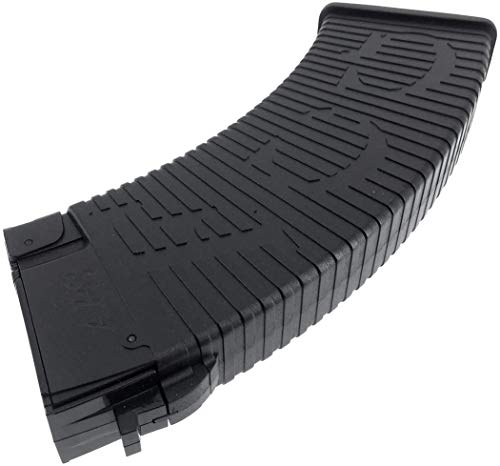 SportPro  7 SportPro APS 500 Round Polymer Thermold Waffle High Capacity Magazine for AEG AK47 AK74 Airsoft 6 Pack - Black