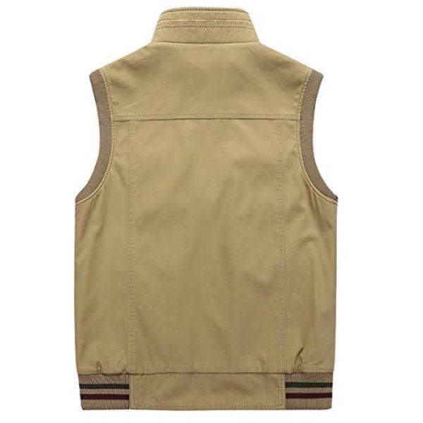 DAFREW Airsoft Tactical Vest 2 DAFREW Men's Reversible Cotton Casual Gilet Vest Outdoor Multi Pockets Full Zip Vests (Color : Black, Size : L)