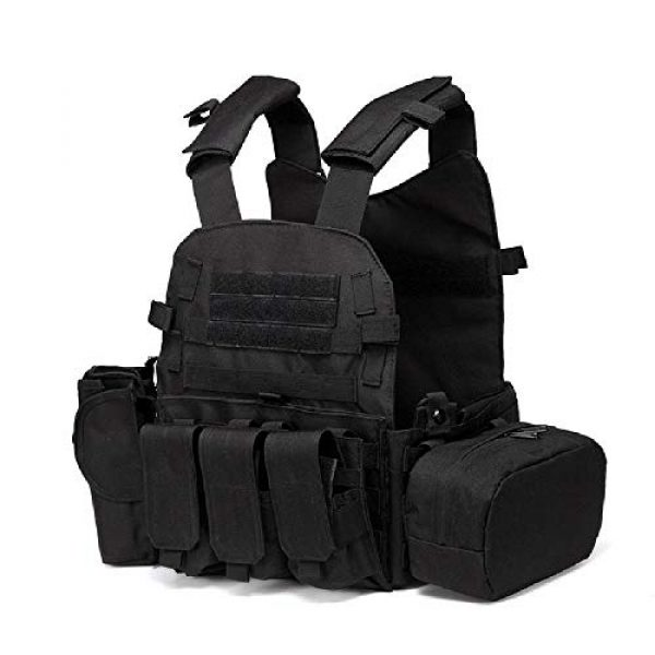 BGJ Airsoft Tactical Vest 3 Outdoor Airsoft Gear 6094 Tactical Molle Vest Paintball CS Games Protection Body Armor Military Shooting Combat Training Vest