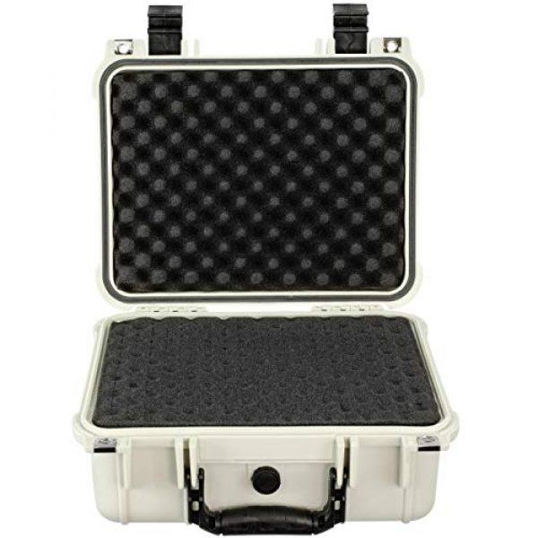 Eylar Pistol Case 2 Eylar Tactical Hard Gun Case Water & Shock Proof with Foam TSA Approved 13.37 Inch 11.62 Inch 6 Inch Storm White