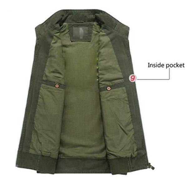 DAFREW Airsoft Tactical Vest 6 DAFREW Men's Vest Vest Casual Cotton Vest Men's Outdoor Travel Vest (Color : Khaki, Size : XL)