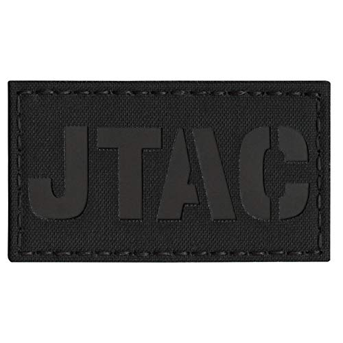 Tactical Freaky Airsoft Morale Patch 2 Blackout JTAC Joint Terminal Attack Controller Air Support FAC Infrared IR 3.5x2 Tactical Morale Touch Fastener Patch