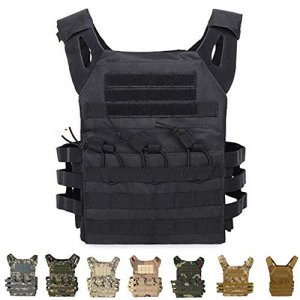 BGJ Airsoft Tactical Vest 5 Hunting Body Armor Plate Carrier Tactical Vest Fashion Outdoor CS Game Paintball Airsoft Vest Military Gear Equipment SAA0095